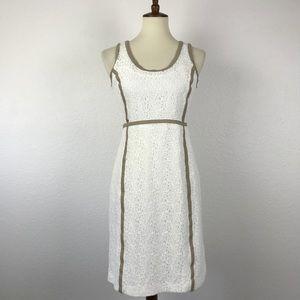 Michael Kors Lace Cotton Blend Sheath Dress D379